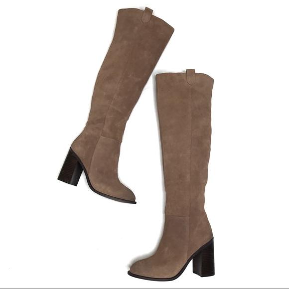 "475d0a8a9ee Kelsi Dagger Shoes - Kelsi Dagger ""Harman"" Suede Over the Knee Boots"